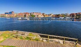 Övårsikt för Karlskrona stadsfjärd Royaltyfri Fotografi