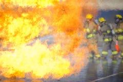 öva brandutbildning Arkivfoton