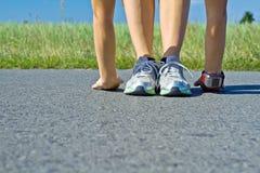 öva den running kvinnan Arkivbild
