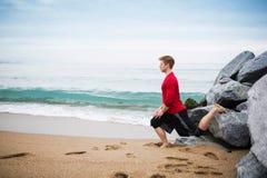 öva för strand royaltyfri foto