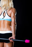 öva idrottshalllokalkvinnan arkivfoton