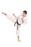 öva karatemannen arkivfoto