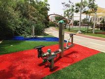 Öva utrustning i ett offentligt parkerar i Rishon Le Zion, Israel royaltyfria foton