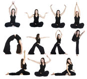 övar yoga Royaltyfri Foto