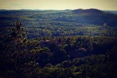 Över bergen Royaltyfri Foto