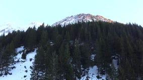 Över bergen arkivfilmer