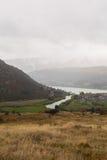 Över blick av sjön och berget Royaltyfri Bild