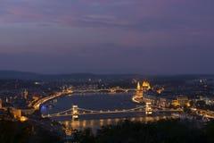 Över Budapest Royaltyfria Foton