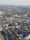 Över DÃ-¼sseldorf arkivbilder
