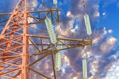 Över den klara blåa skyen Royaltyfri Foto