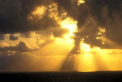 över den panama soluppgången arkivfoton