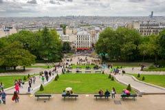 över den paris sikten royaltyfri bild