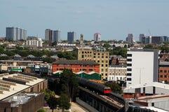 över den västra london sikten Arkivbild