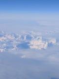 Över Grönland Arkivfoto