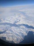 Över Grönland Arkivbilder
