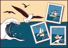 över havsseagulls Fotografering för Bildbyråer