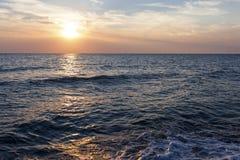 över havssolnedgång Royaltyfria Foton