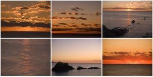 över havssoluppgångsolnedgång fotografering för bildbyråer