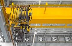Över huvudet Crane Factory Royaltyfria Bilder