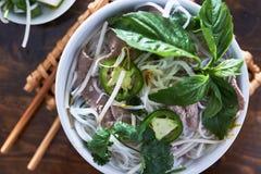 Över huvudet foto av den vietnamesiska phoen arkivfoton