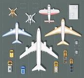 Över huvudet punkt av siktsflygplatsen royaltyfri illustrationer