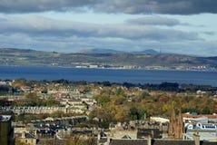 Över huvudet sikt av Edinburg, Skottland royaltyfria bilder
