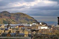 Över huvudet sikt av Edinburg, Skottland royaltyfria foton