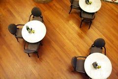 över huvudet sikt för cafe Royaltyfria Bilder