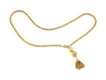 över huvudet sikt för guld- halsband Royaltyfri Fotografi