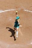 över huvudet softball 02 Arkivfoto