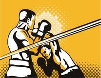 över huvudet stansmaskin för boxare stock illustrationer