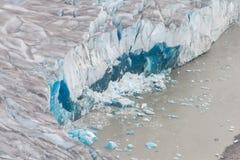 Över huvudet Taku Glacier, Juneau, Alaska Arkivfoton