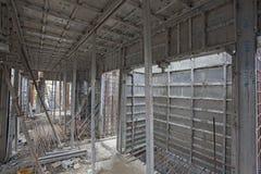 Över huvudet tunnelbanakonstruktion i Bangalore Royaltyfri Fotografi