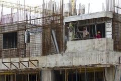 Över huvudet tunnelbanakonstruktion i Bangalore Arkivbilder