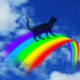 Över regnbågebron Arkivbild