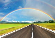 över regnbågevägen Royaltyfri Fotografi