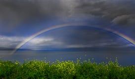 över regnbågevatten fotografering för bildbyråer