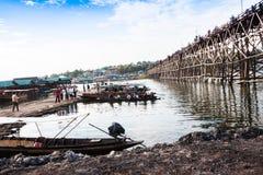 Över ställe för siktsmåndag bro Arkivbilder