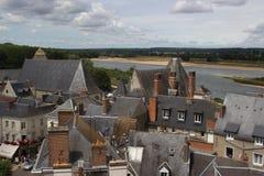 Över strövar, den gamla staden, Amboise, Loire Valley Fotografering för Bildbyråer