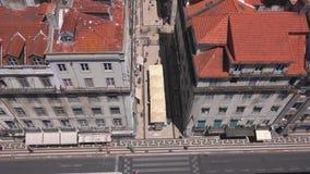Över taken av Lissabon - LISSABON/PORTUGAL - JUNI 14, 2017 arkivfilmer
