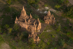Över templen av Bagan Arkivbilder