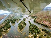 Över Victoria Falls Arkivbilder