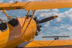 Över vingen av Bush Stearman Royaltyfri Fotografi