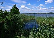 Över Vistulaet River Royaltyfria Bilder