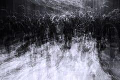 Överbefolkad stad på svarta fredag Arkivbilder