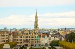 Överblick av Bryssel, Belgien royaltyfri bild