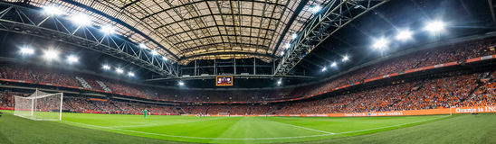 Överblick av den Amsterdam arenan Arkivbilder