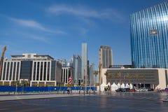 Överblick av den Dubai gallerian i Dubai Royaltyfri Bild