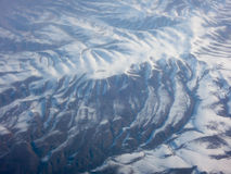 Överblick av det talrika bergmaximumet Arkivfoton
