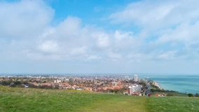 Överblick av eastbourne, östliga sussex, England, UK royaltyfri bild